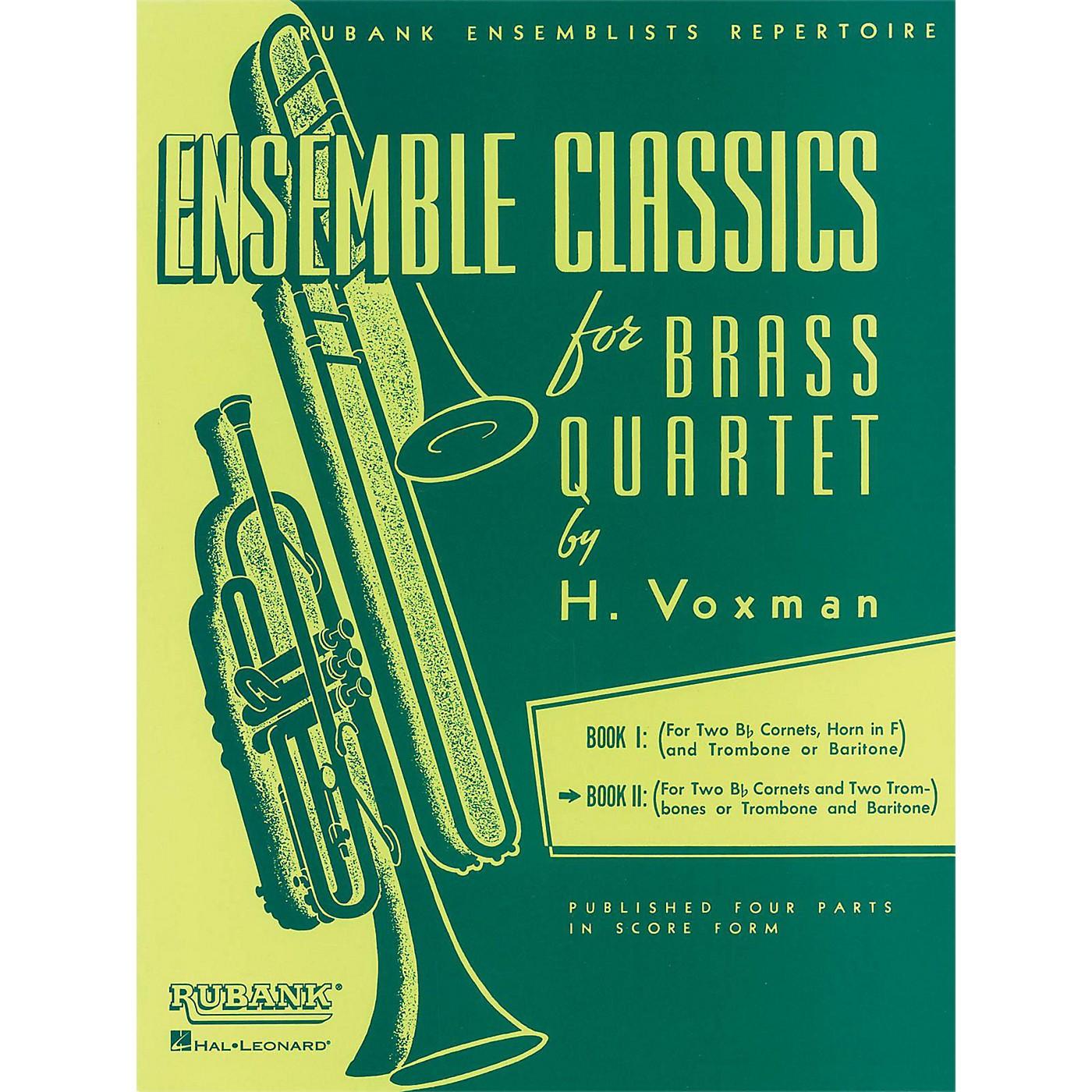 Hal Leonard Ensemble Classics Series Brass Quartets Vol 2 Two Cornets, Trombone, And 2nd Trombone thumbnail