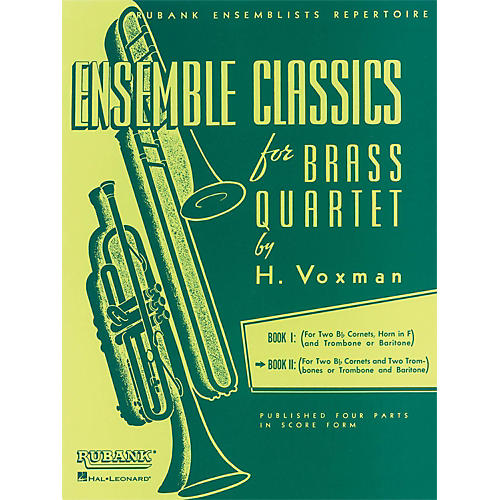 Hal Leonard Ensemble Classics Series Brass Quartets Vol 2 Two Cornets, Trombone, And 2nd Trombone thumbnail