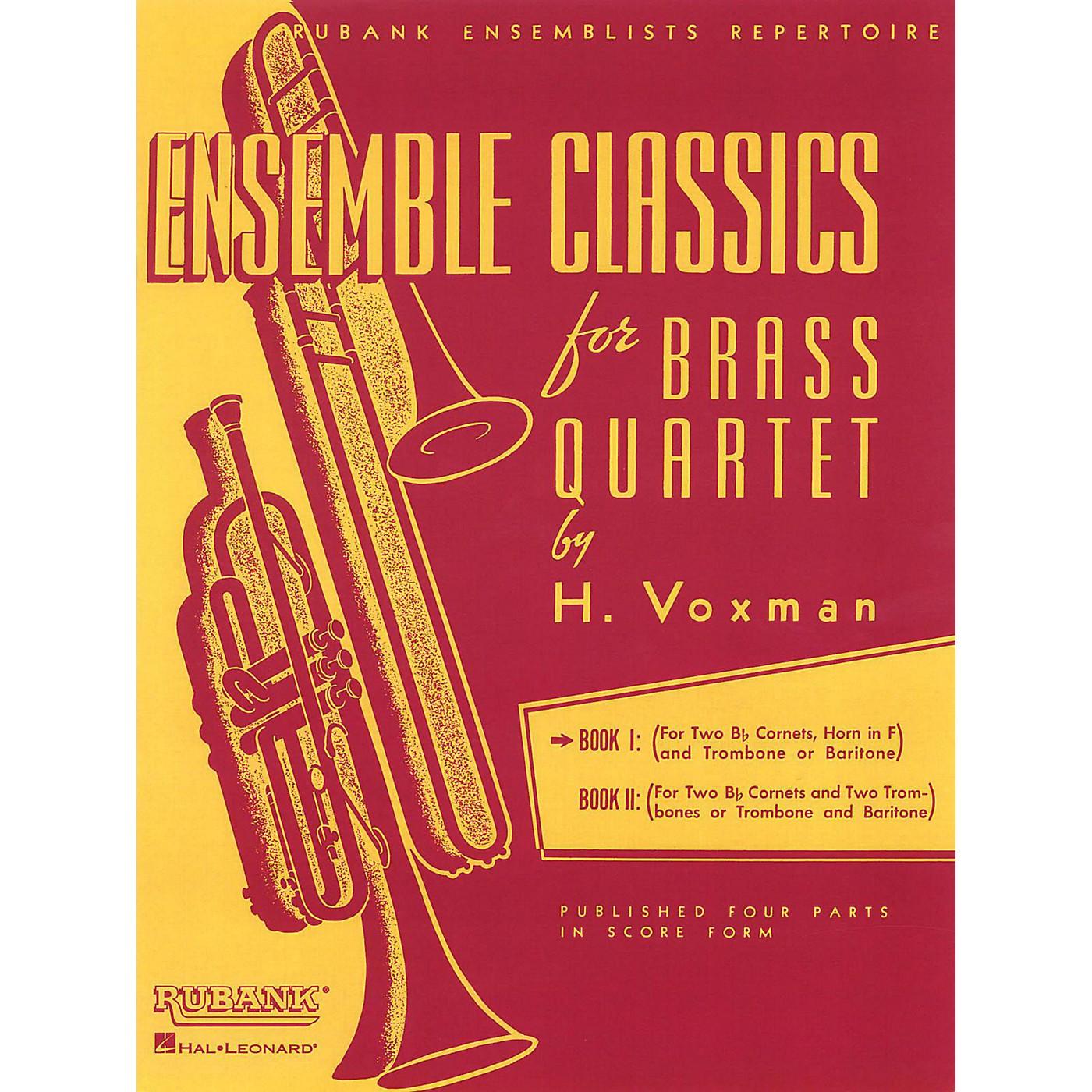 Hal Leonard Ensemble Classics for Brass Quartet Vol 1 for Two Cornets, Horn, & Trombone Or Baritone thumbnail