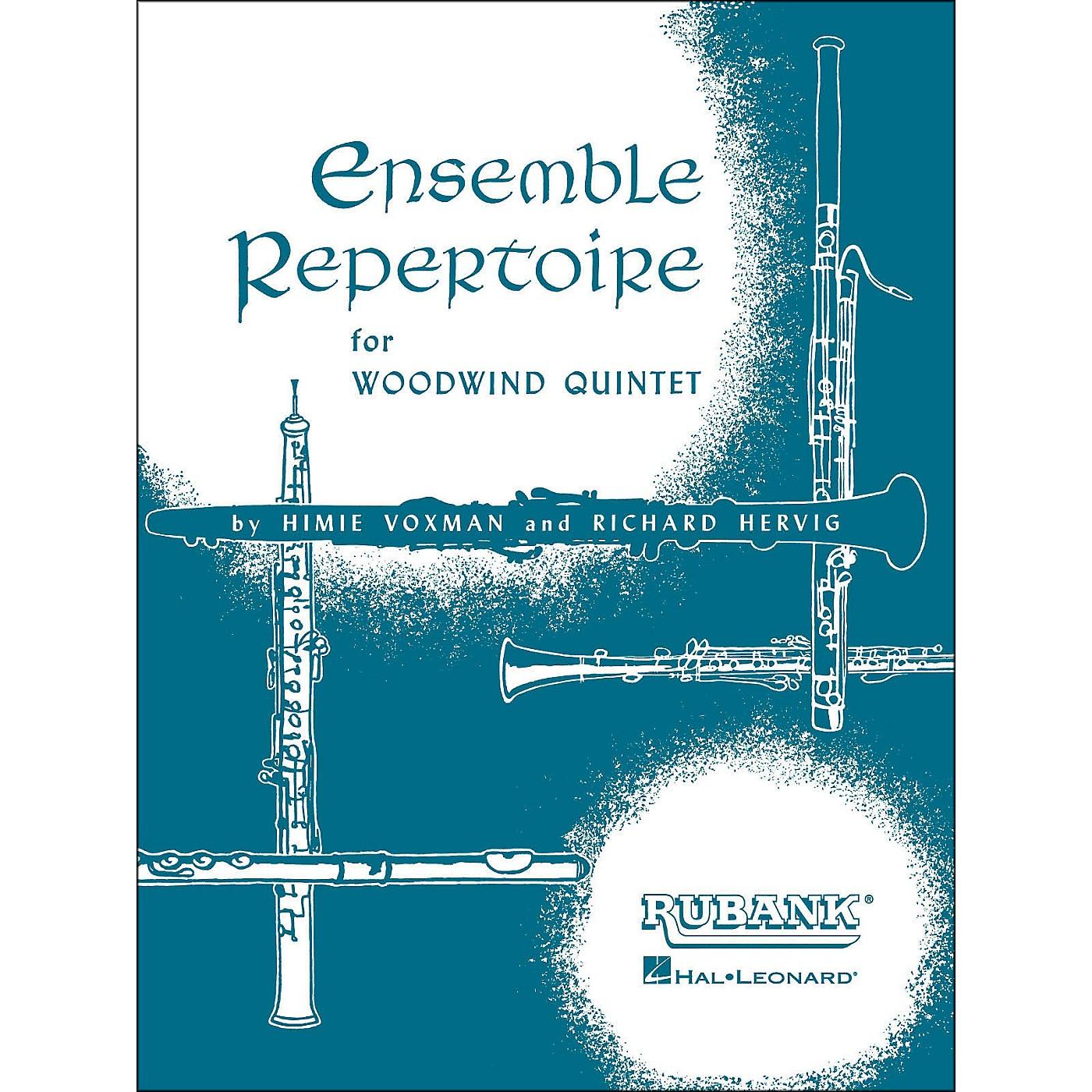 Hal Leonard Ensemble Repertoire for Woodwind Quintet Oboe thumbnail