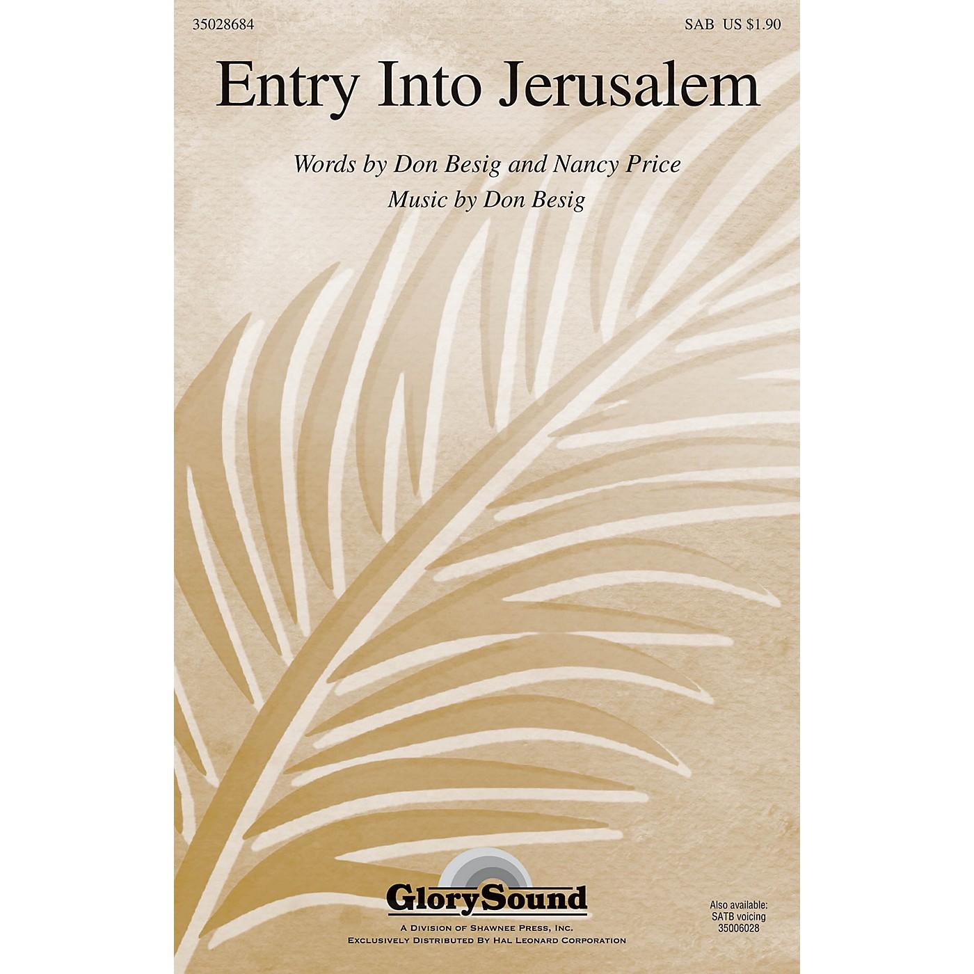 Shawnee Press Entry Into Jerusalem SAB composed by Don Besig thumbnail