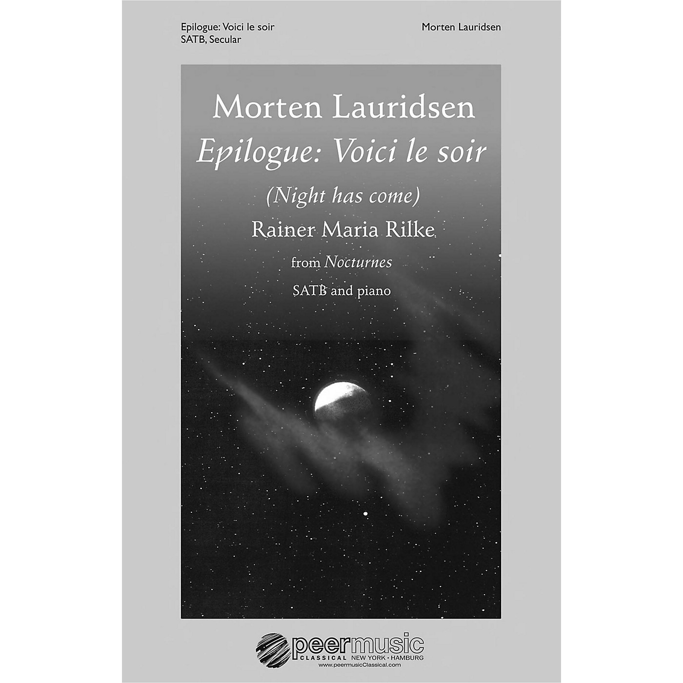 Peer Music Epilogue: Voici le soir (from Nocturnes SATB and Piano) Composed by Morten Lauridsen thumbnail