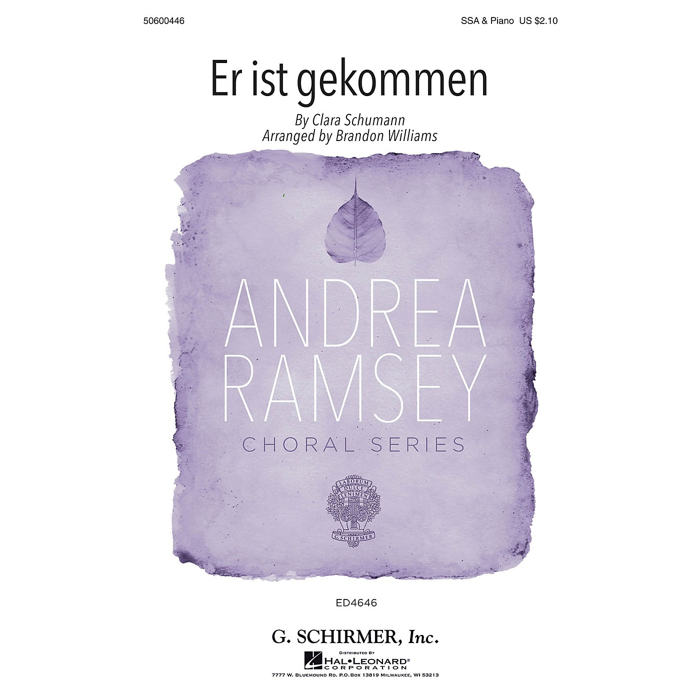 G. Schirmer Er ist gekommen (Andrea Ramsey Choral Series) SSA arranged by Brandon Williams thumbnail