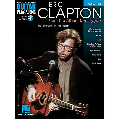 Hal Leonard Eric Clapton - From The Album Unplugged - Guitar Play-Along Volume 155 Book/CD thumbnail