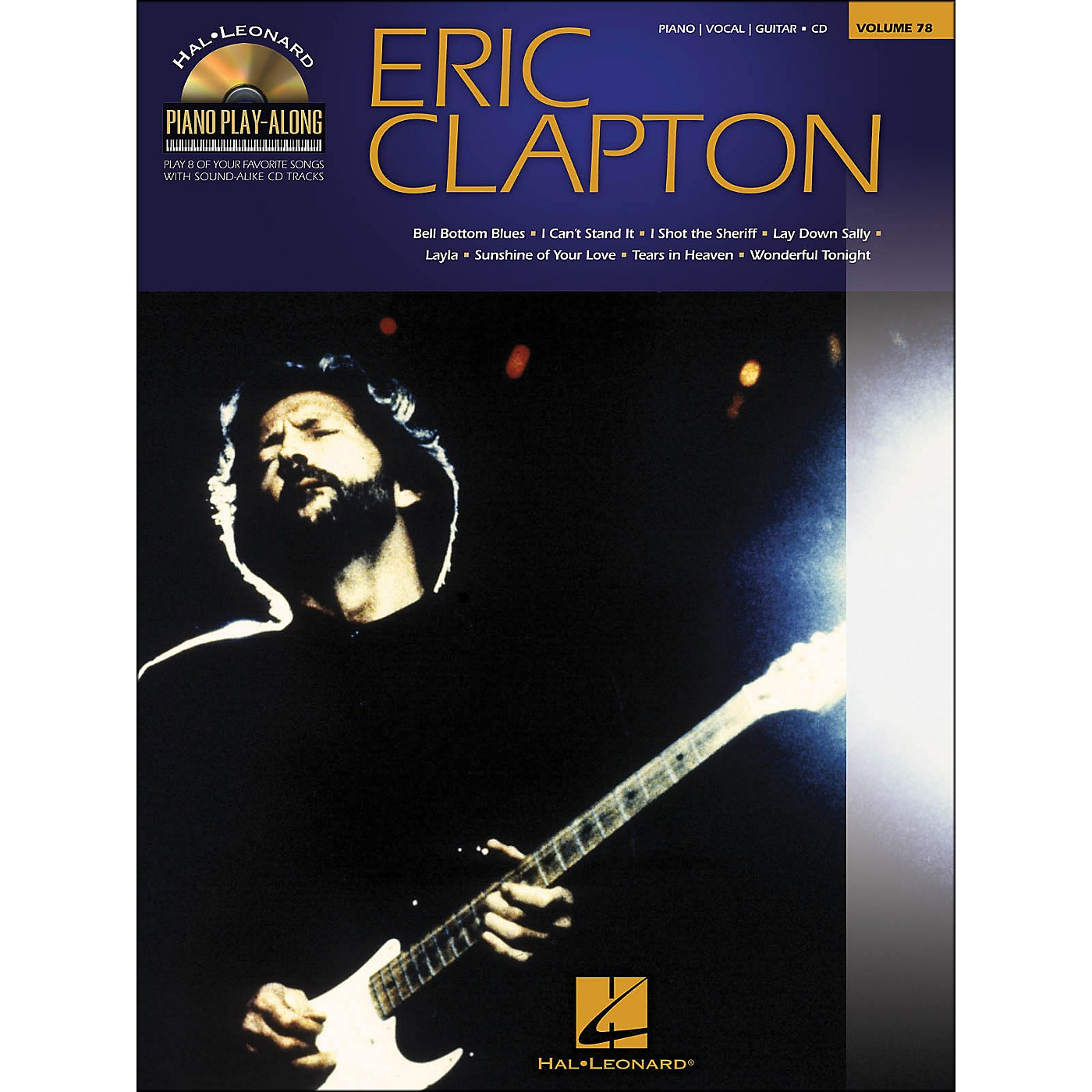 Hal Leonard Eric Clapton - Piano Play-Along Volume 78 (CD/Pkg) arranged for piano, vocal, and guitar (P/V/G) thumbnail
