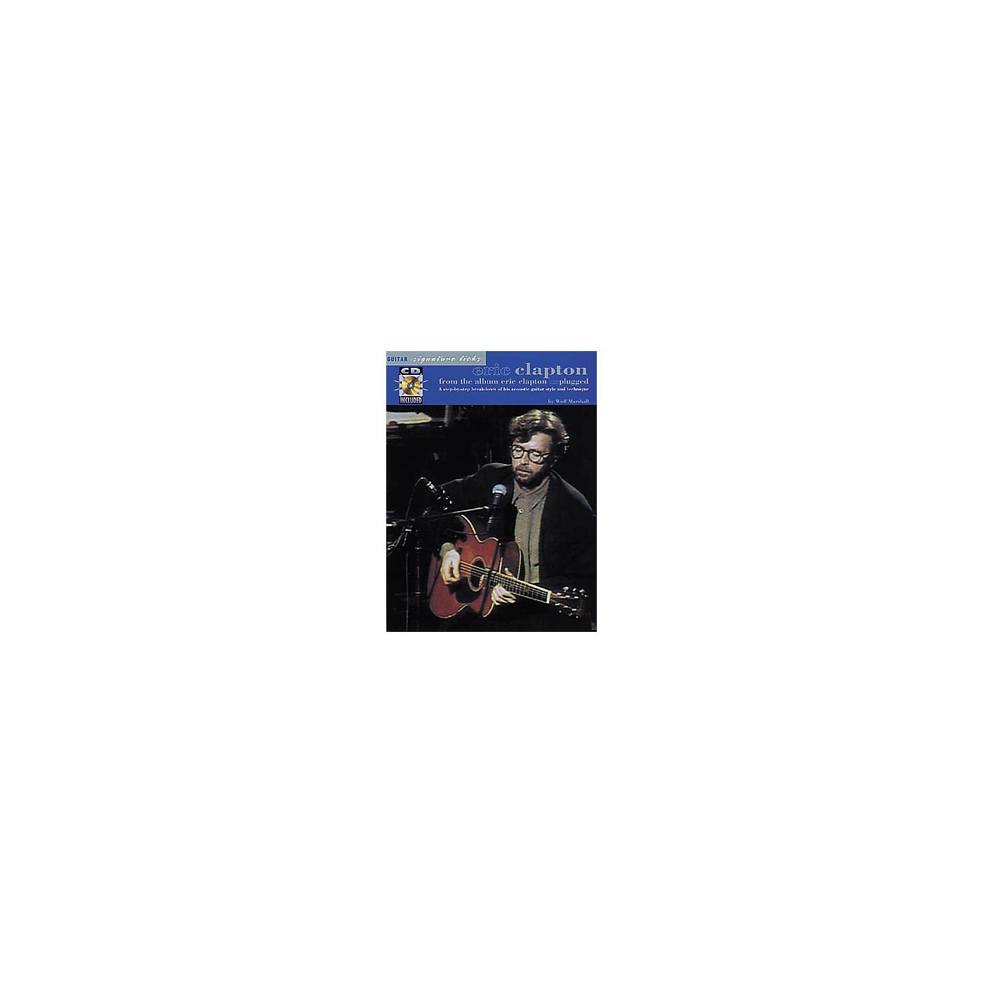 Hal Leonard Eric Clapton Unplugged Guitar Signature Licks Book with CD thumbnail