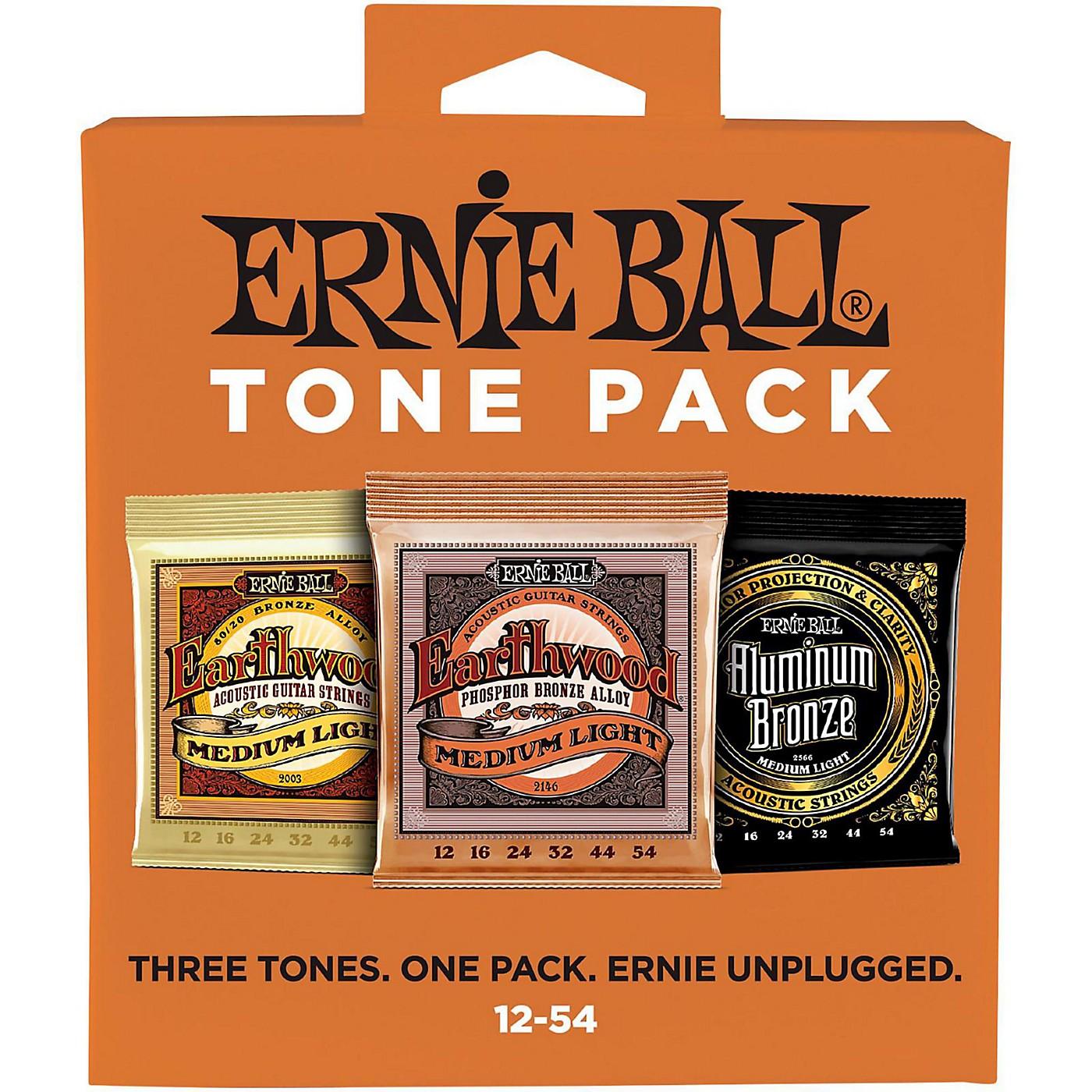 Ernie Ball Ernie Ball Medium Light Acoustic Guitar String Tone Pack thumbnail