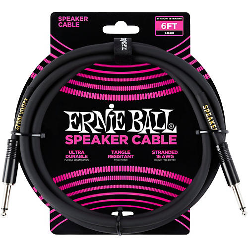 Ernie Ball Ernie Ball Speaker Cable Black Straight/Straight thumbnail