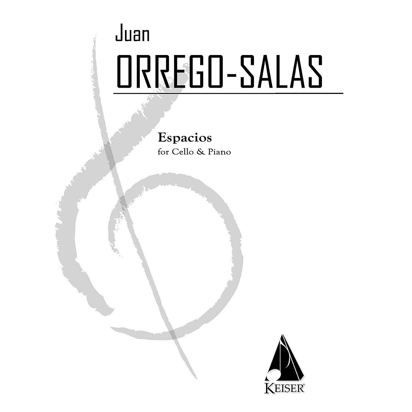 Lauren Keiser Music Publishing Espacios, Op. 115: A Rhapsody for Cello and Piano LKM Music Series Composed by Juan Orrego-Salas thumbnail