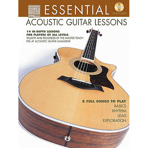 String Letter Publishing Essential Acoustic Guitar Lessons (Book/CD) thumbnail