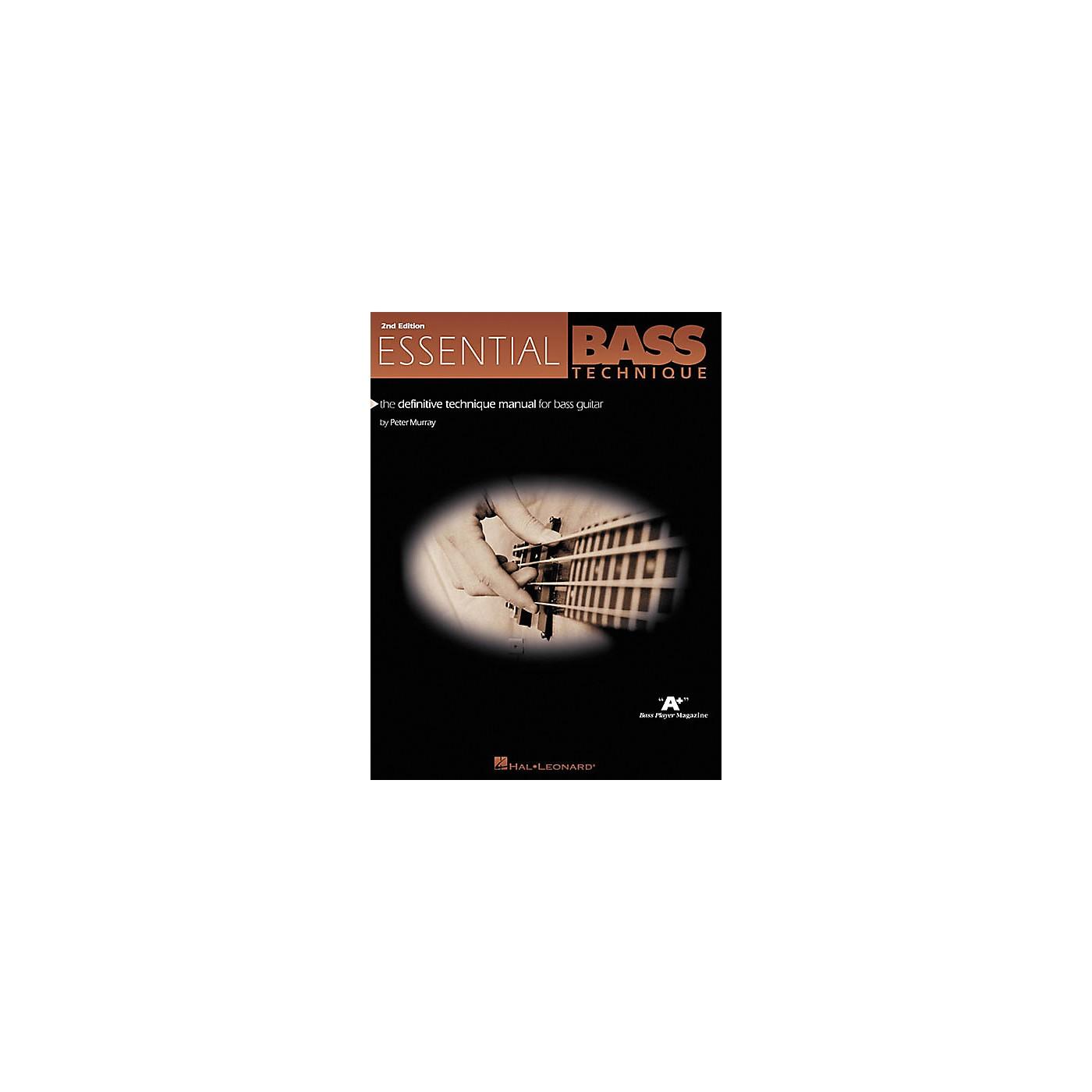 Hal Leonard Essential Bass Technique - 2nd Edition Book thumbnail