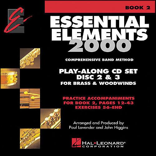 Hal Leonard Essential Elements Book 2 Play Along Trax 2 CD Set Discs 2 & 3 Brass & Woodwind-thumbnail