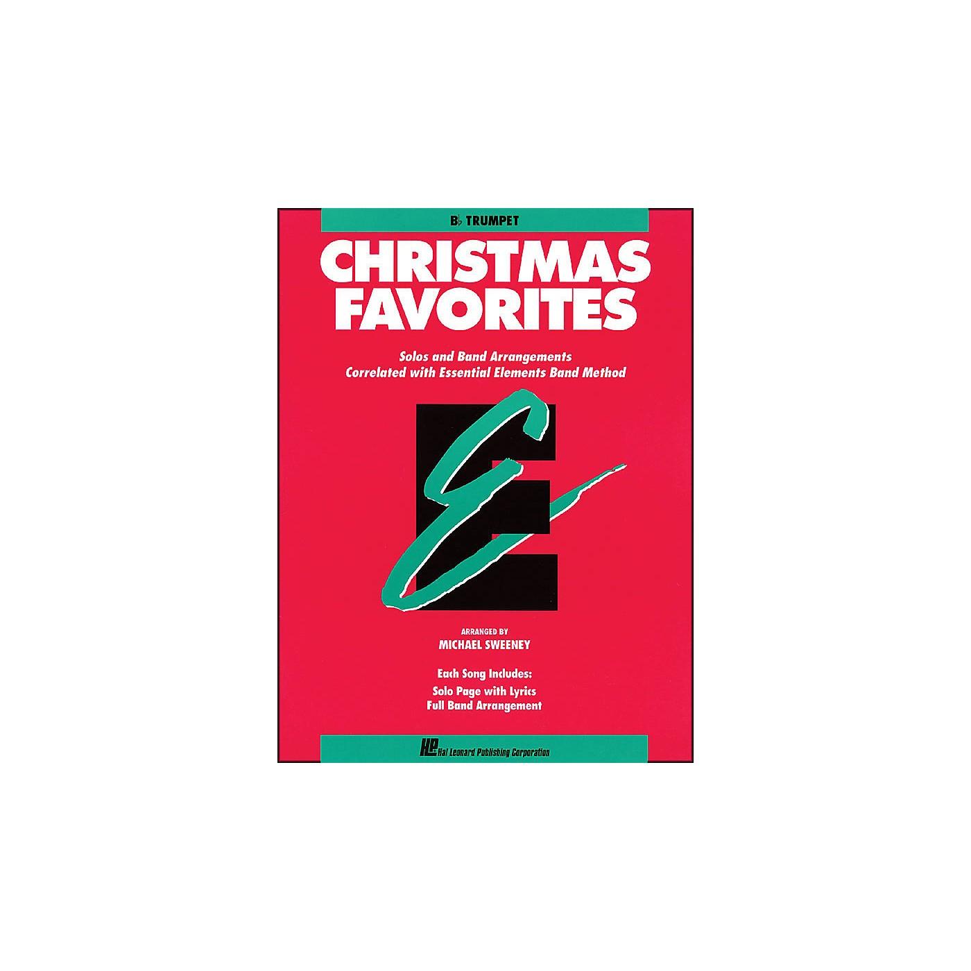 Hal Leonard Essential Elements Christmas Favorites B Flat Trumpet thumbnail