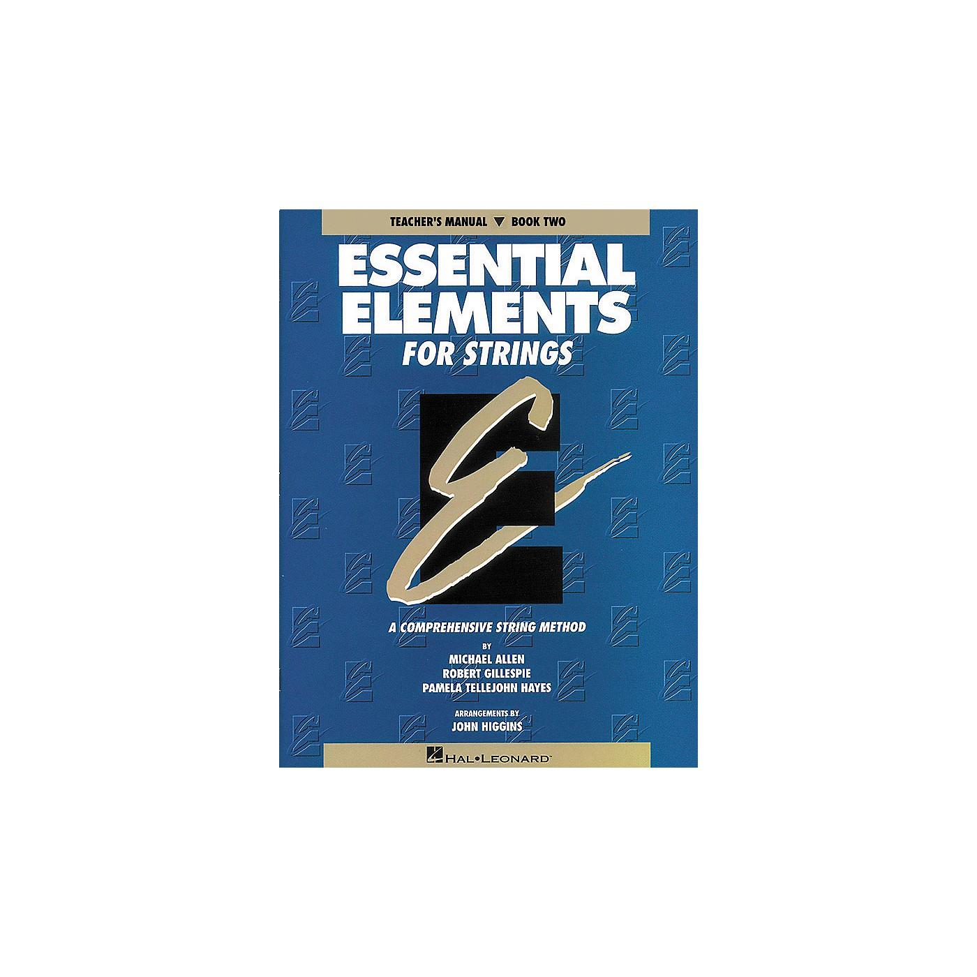 Hal Leonard Essential Elements For Strings Teachers Manual Book 2 thumbnail