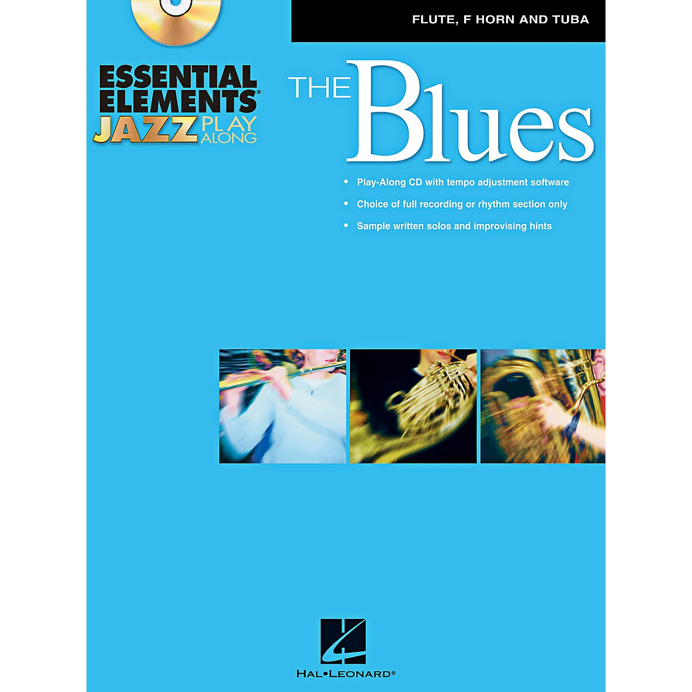 Hal Leonard Essential Elements Jazz Play-Along - The Blues (Flute, French Horn, and Tuba) Book/CD thumbnail