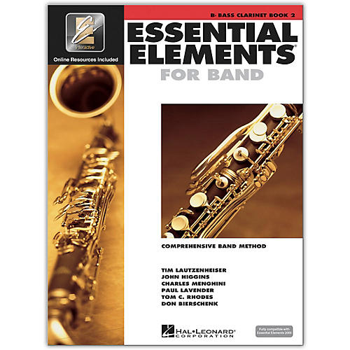 Hal Leonard Essential Elements for Band - Bb Bass Clarinet 2 Book/Online Audio thumbnail