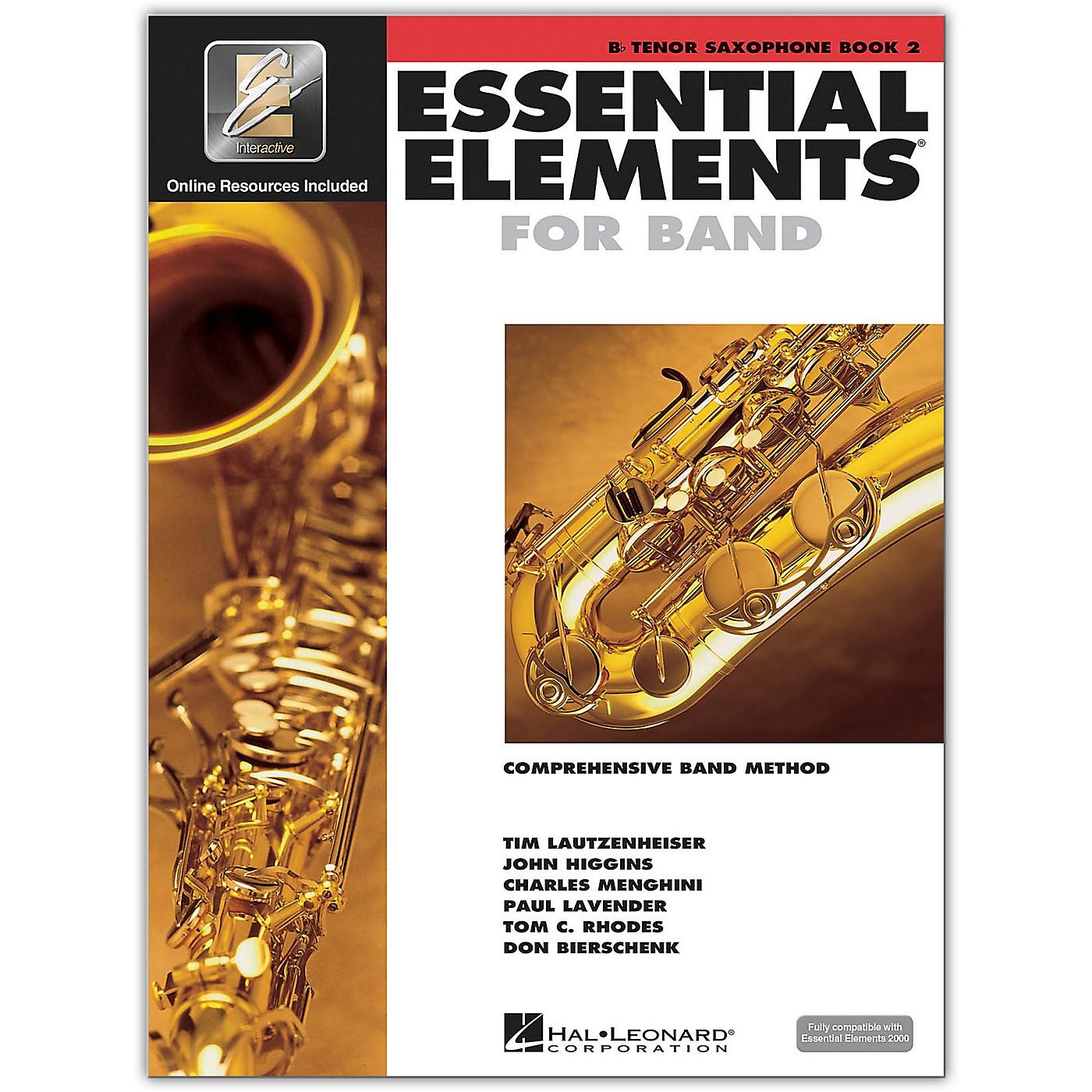 Hal Leonard Essential Elements for Band - Bb Tenor Saxophone 2 Book/Online Audio thumbnail