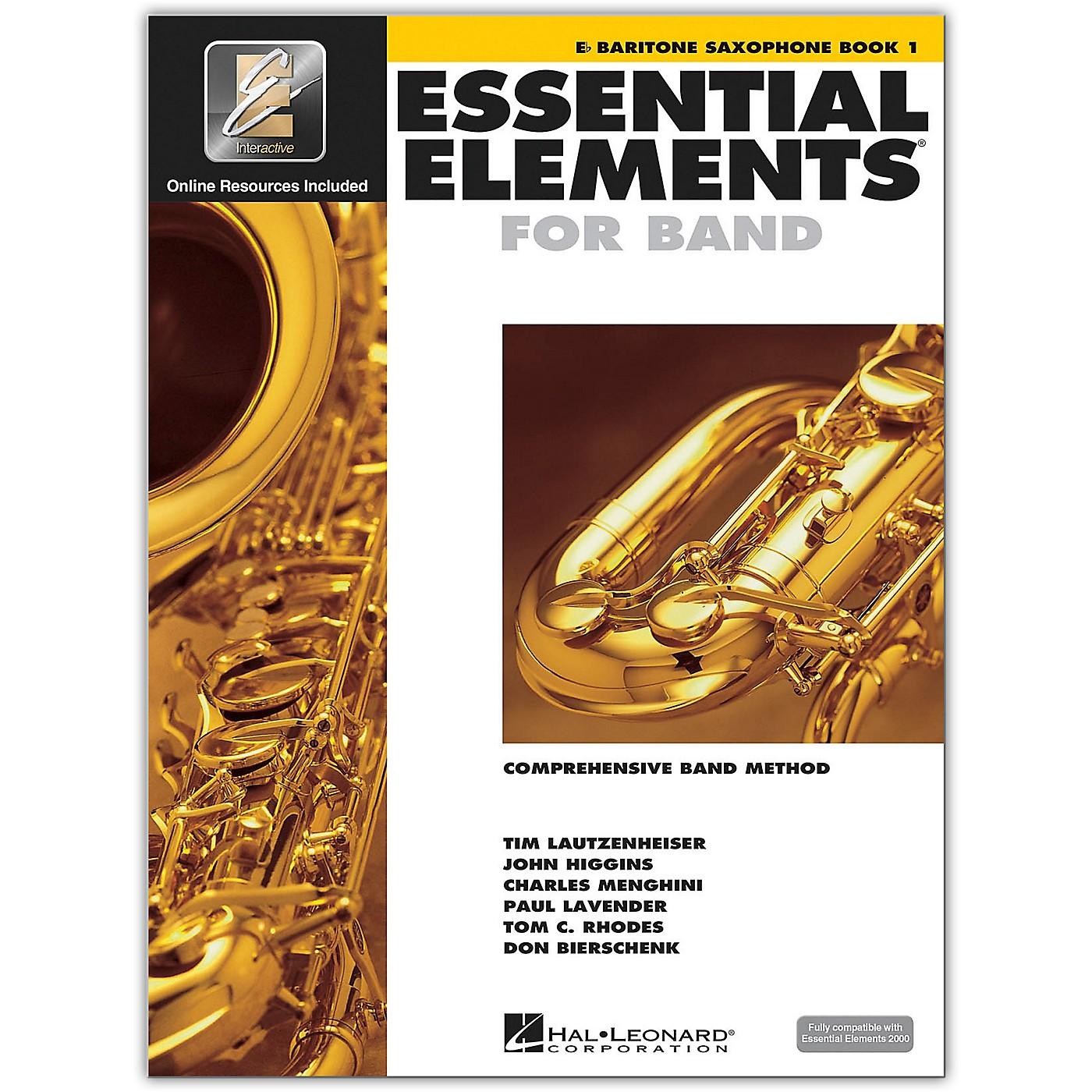 Hal Leonard Essential Elements for Band - Eb Baritone Saxophone 1 Book/Online Audio thumbnail