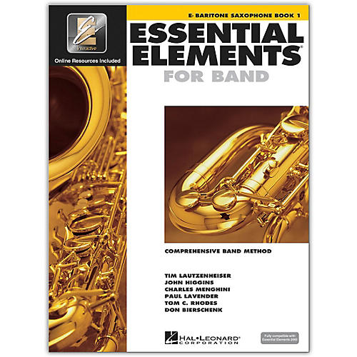 Hal Leonard Essential Elements for Band - Eb Baritone Saxophone 1 Book/Online Audio thumbnail