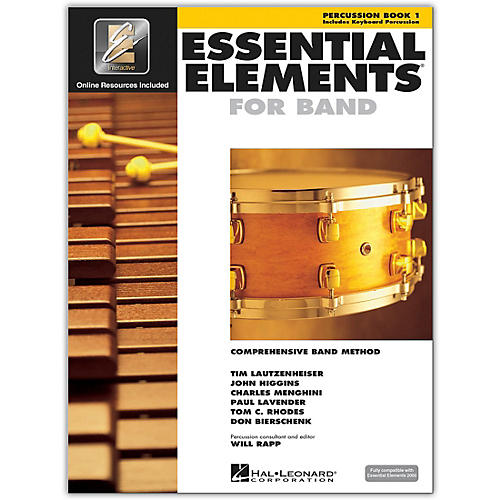Hal Leonard Essential Elements for Band - Percussion and Keyboard Percussion (Book 1 with EEi)-thumbnail