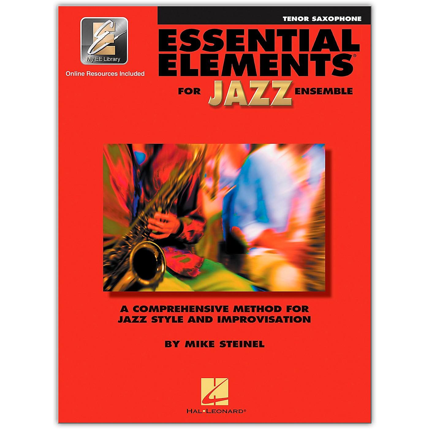 Hal Leonard Essential Elements for Jazz Ensemble - Bb Tenor Saxophone (Book/Online Audio) thumbnail