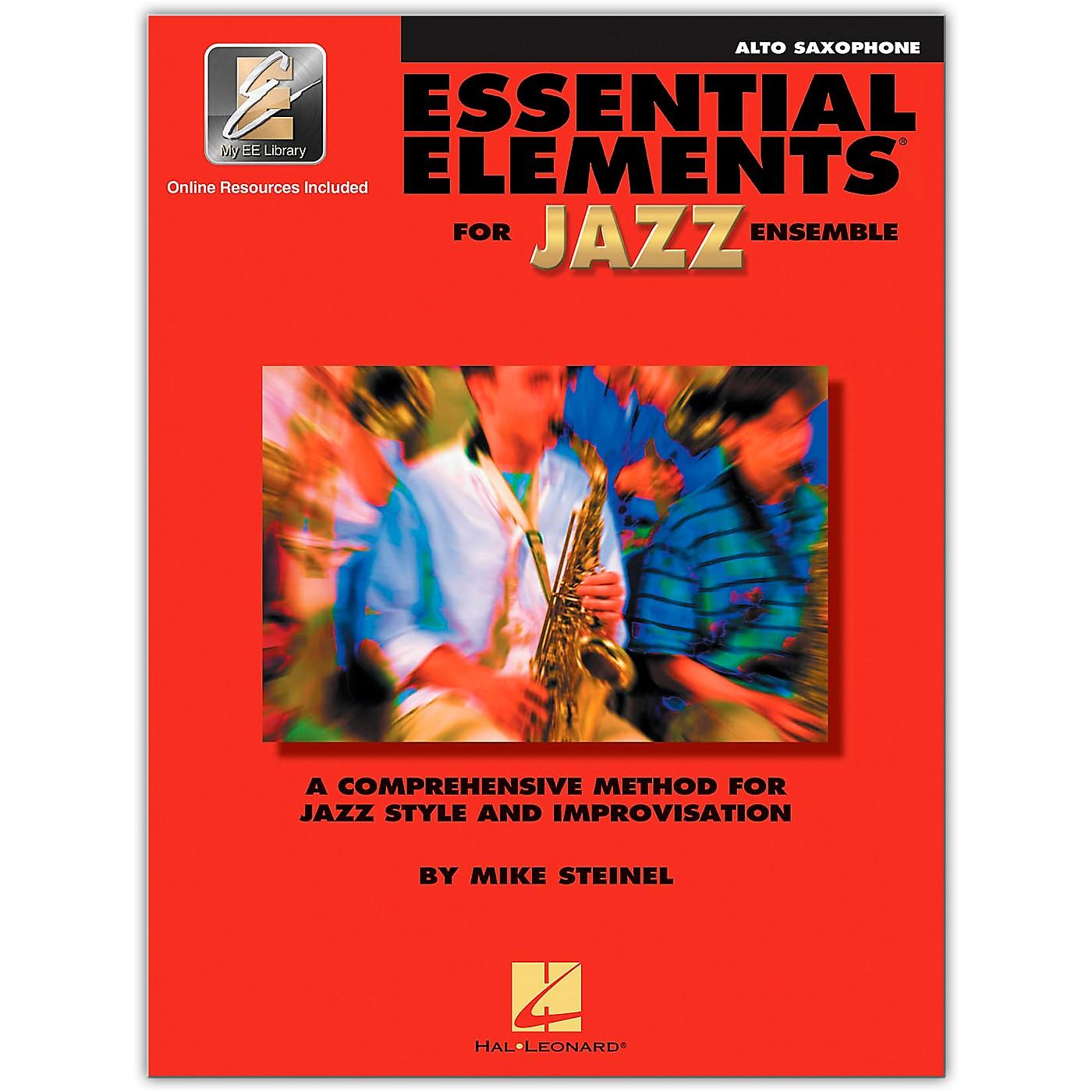 Hal Leonard Essential Elements for Jazz Ensemble - Eb Alto Saxophone (Book/Online Audio) thumbnail