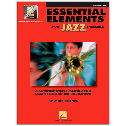 Hal Leonard Essential Elements for Jazz Ensemble - Trombone (Book/Online Audio)-thumbnail