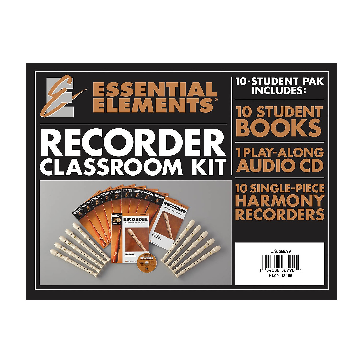 Hal Leonard Essential Elements for Recorder Classroom Kit Essential Elements Recorder Series Written by Various thumbnail