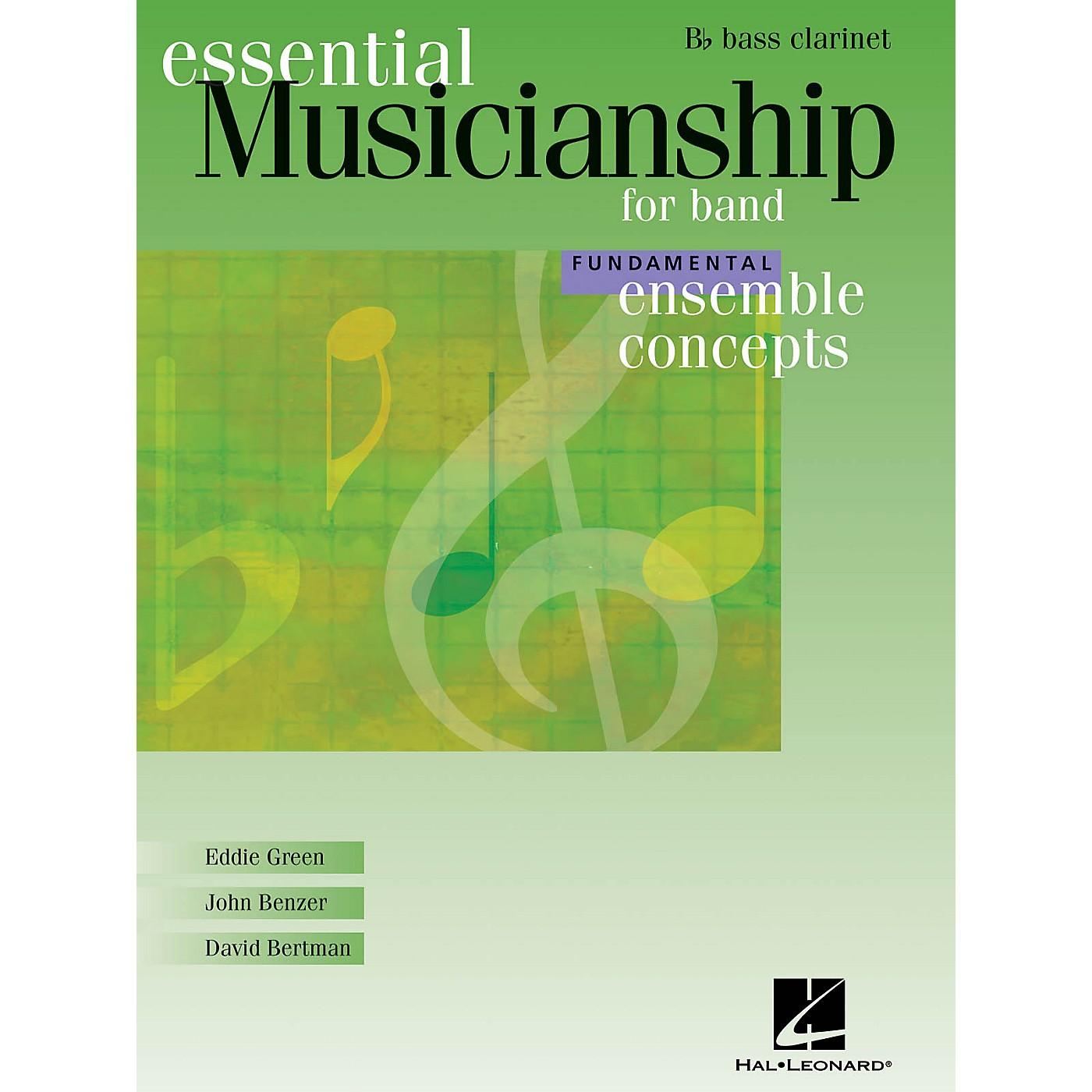 Hal Leonard Essential Musicianship for Band - Ensemble Concepts (Fundamental Level - Bb Bass Clarinet) Concert Band thumbnail