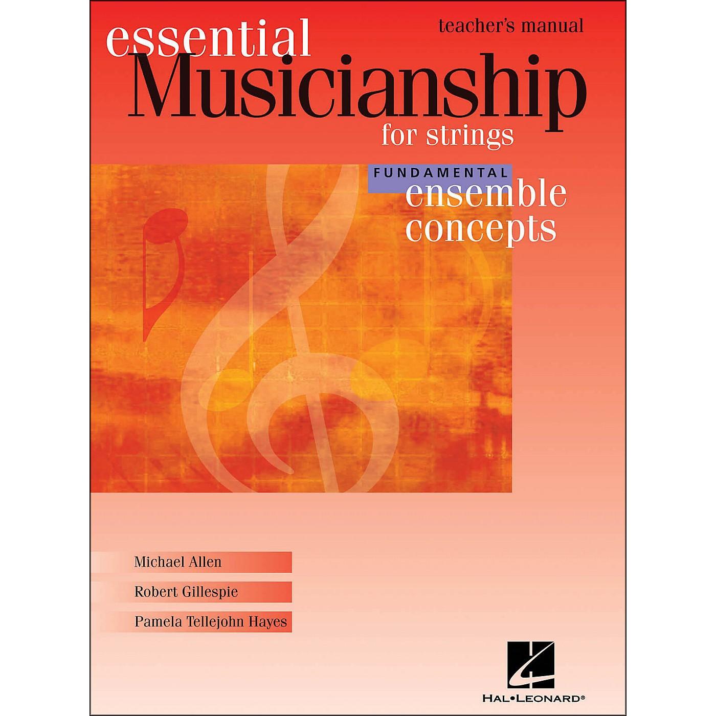 Hal Leonard Essential Musicianship for Strings - Ensemble Concepts Fundamental Teacher's Manual thumbnail