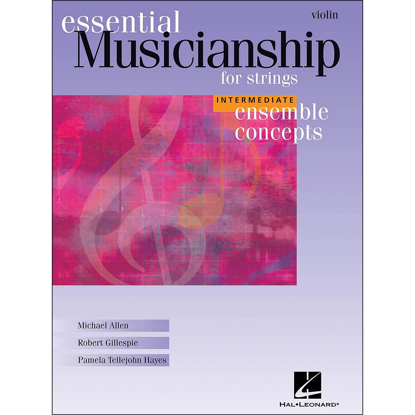 Hal Leonard Essential Musicianship for Strings - Ensemble Concepts Intermediate Violin thumbnail