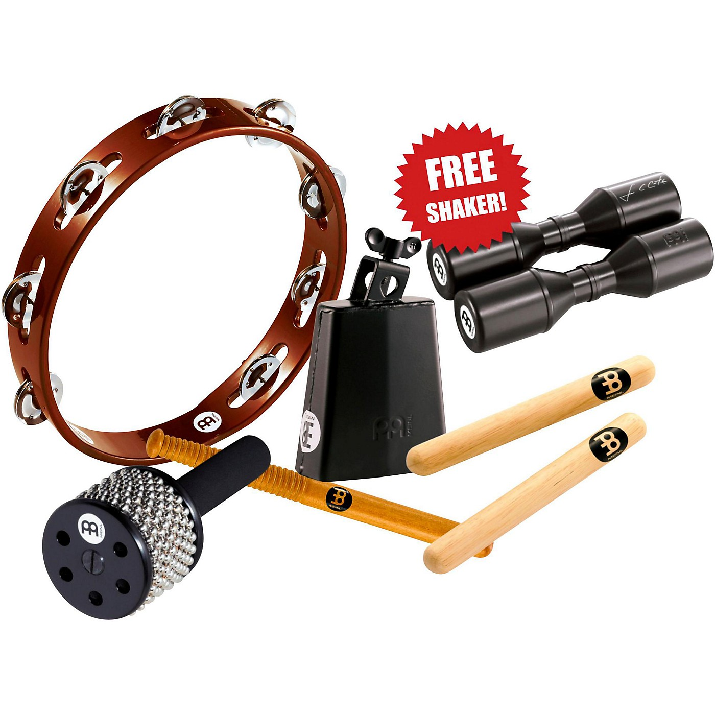 Meinl Essential Perc Pack With Free Shaker for Cajon, Djembe, Bongos and Congas thumbnail