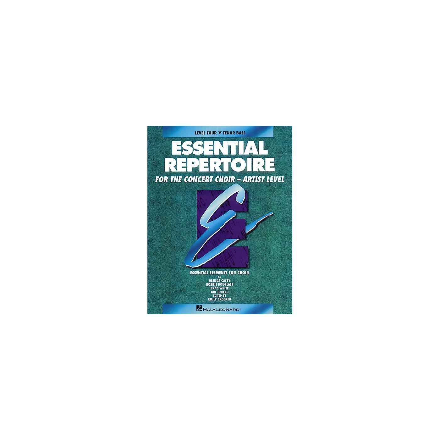 Hal Leonard Essential Repertoire for the Concert Choir - Artist Level Tenor Bass Perf/Acc CDs (2) by Glenda Casey thumbnail