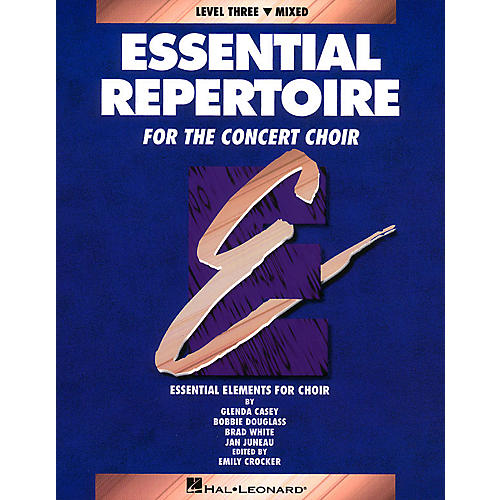 Hal Leonard Essential Repertoire for the Concert Choir Mixed Perf/Acc CDs (2) Composed by Glenda Casey thumbnail