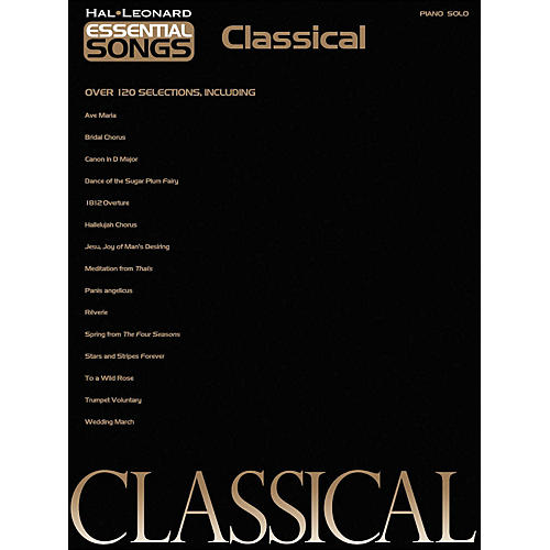Hal Leonard Essential Songs - Classical arranged for piano solo thumbnail