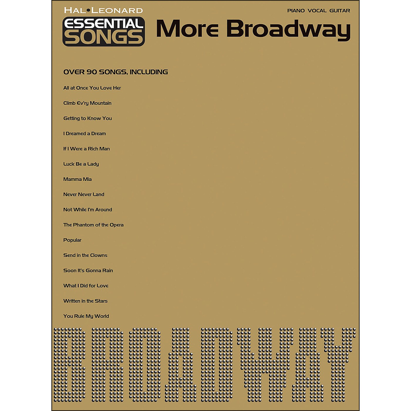 Hal Leonard Essential Songs - More Broadway arranged for piano, vocal, and guitar (P/V/G) thumbnail
