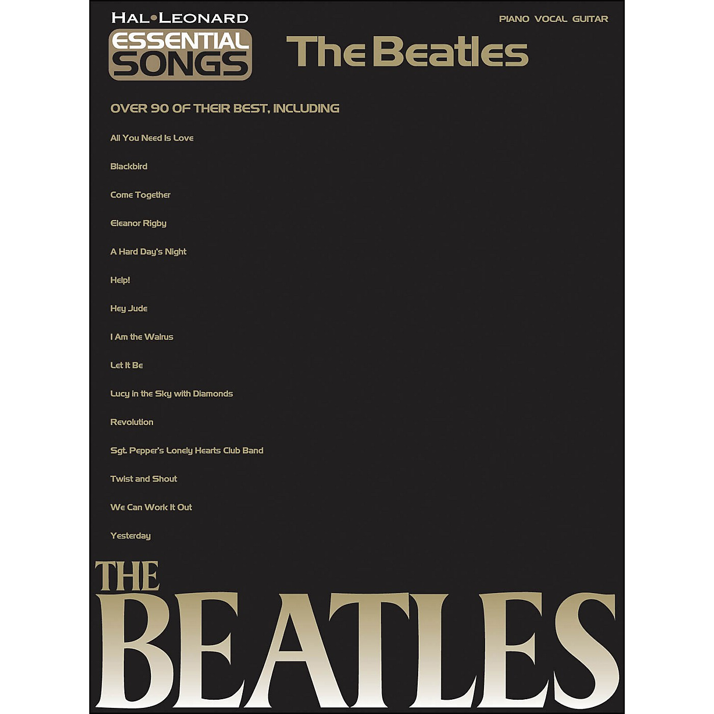 Hal Leonard Essential Songs The Beatles arranged for piano, vocal, and guitar (P/V/G) thumbnail