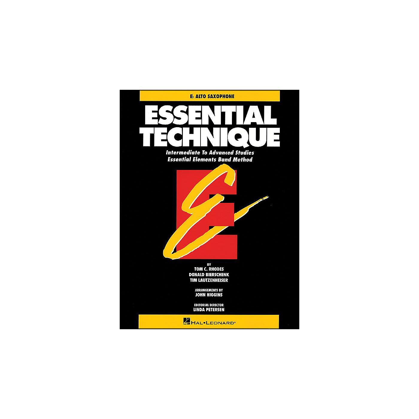 Hal Leonard Essential Technique E Flat Alto Saxophone Intermediate To Advanced Studies thumbnail
