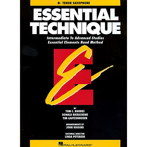 Hal Leonard Essential Technique For B Flat Tenor Saxophone - Intermediate To Advanced Studies thumbnail