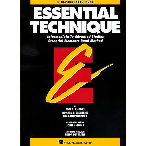 Hal Leonard Essential Technique For E Flat Baritone Saxophone - Intermediate To Advanced Studies-thumbnail