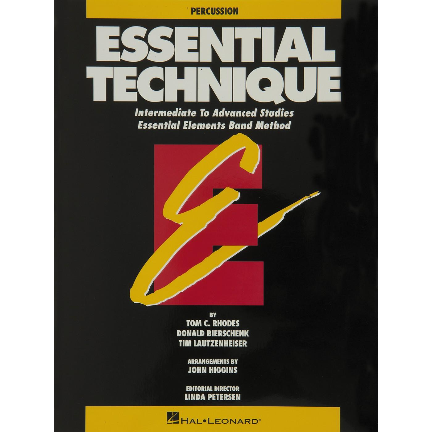 Hal Leonard Essential Technique Percussion Intermediate To Advanced Studies thumbnail