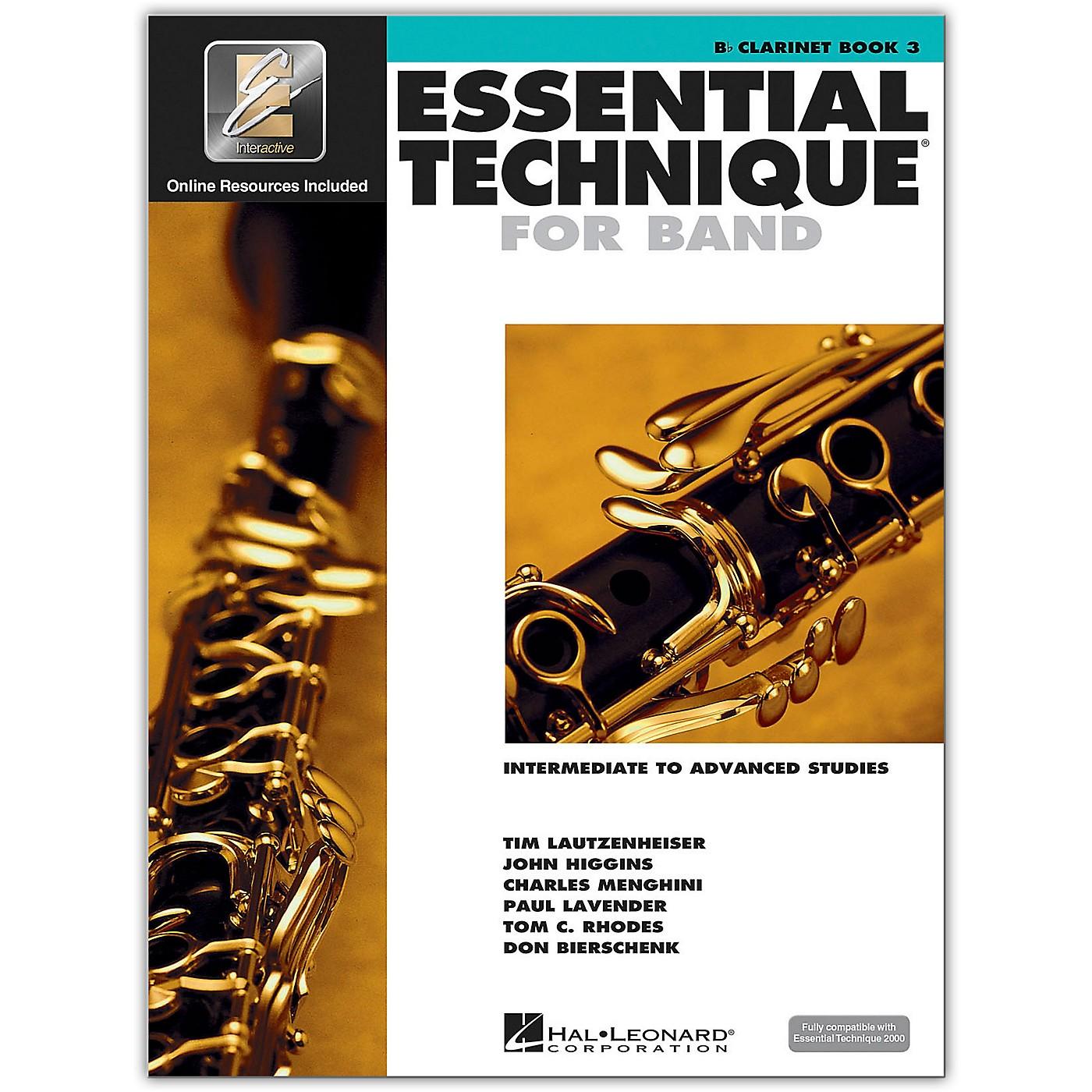 Hal Leonard Essential Technique for Band - Bb Clarinet 3 Book/Online Audio thumbnail