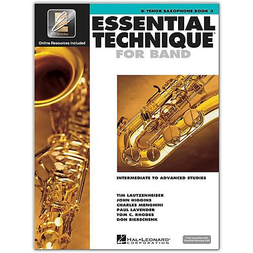 Hal Leonard Essential Technique for Band - Bb Tenor Saxophone 3 Book/Online Audio thumbnail