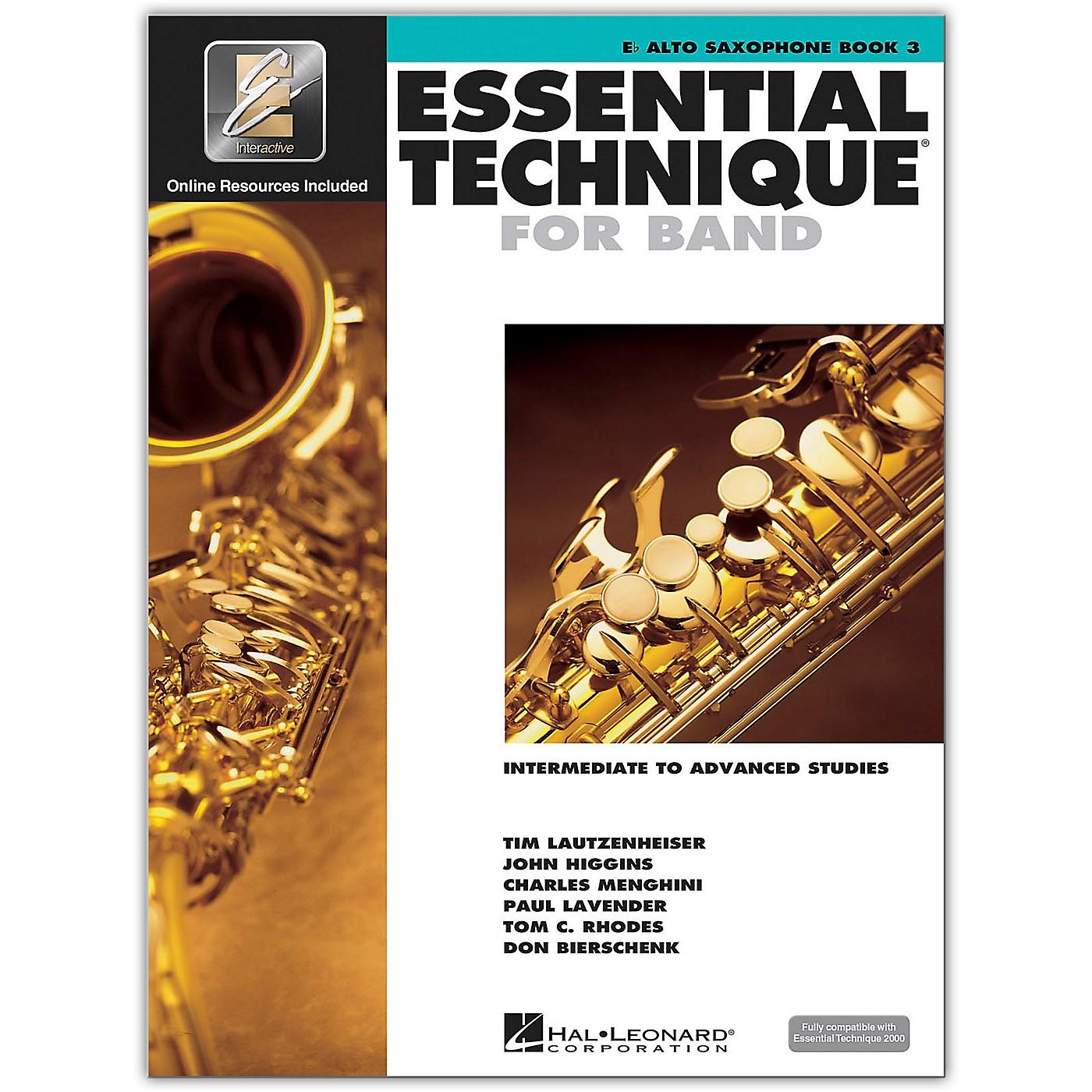 Hal Leonard Essential Technique for Band - Eb Alto Saxophone 3 Book/Online Audio thumbnail