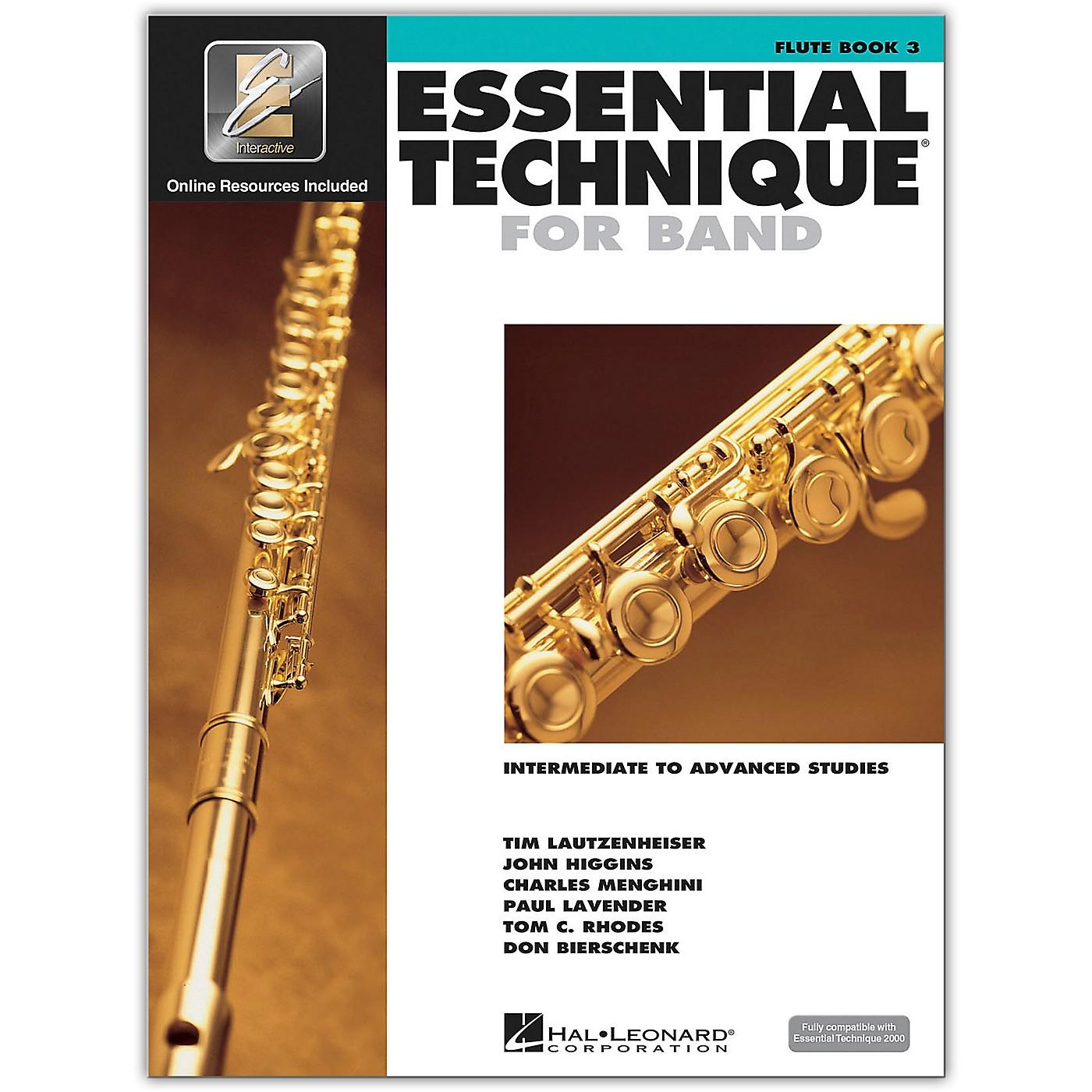 Hal Leonard Essential Technique for Band - Flute 3 Book/Online Audio thumbnail