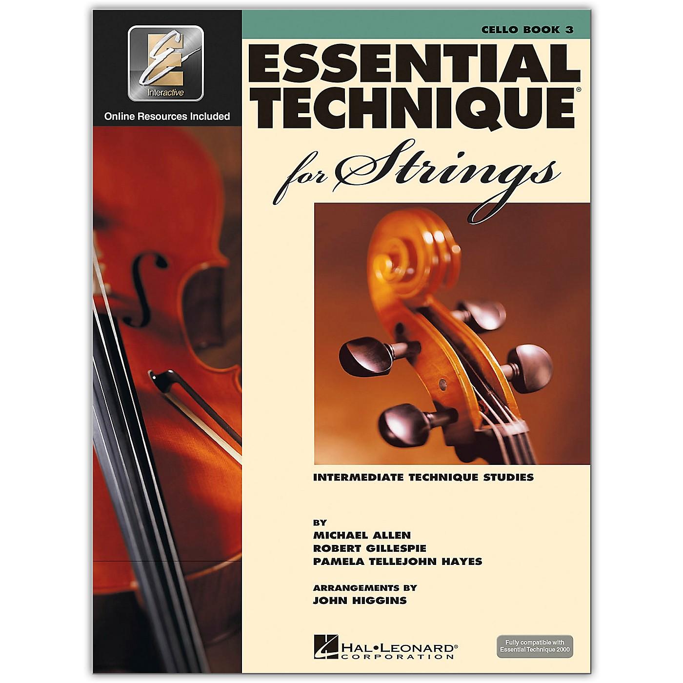 Hal Leonard Essential Technique for Strings - Cello 3 Book/Online Audio thumbnail