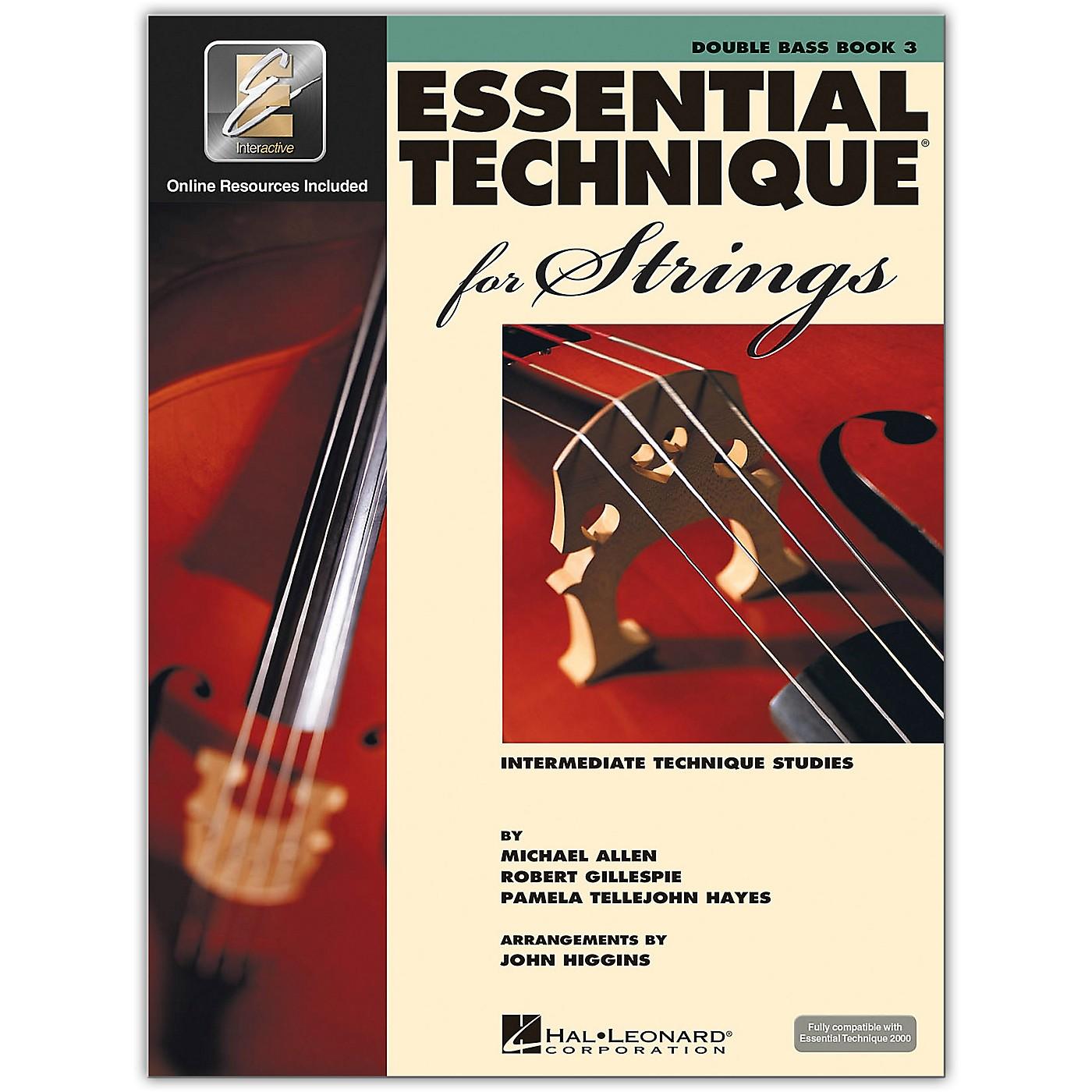 Hal Leonard Essential Technique for Strings - Double Bass 3 Book/Online Audio thumbnail