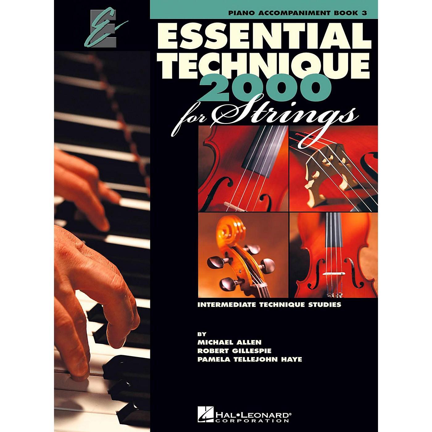 Hal Leonard Essential Technique for Strings - Piano Accompaniment (Book 3) thumbnail