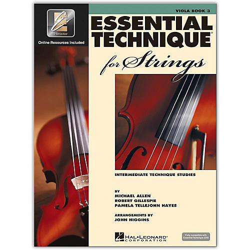 Hal Leonard Essential Technique for Strings - Viola 3 Book/Online Audio thumbnail