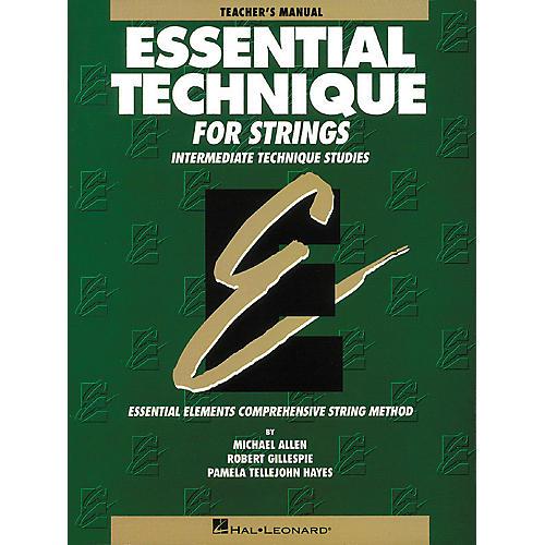 Hal Leonard Essential Technique for Strings Teacher's Manual thumbnail